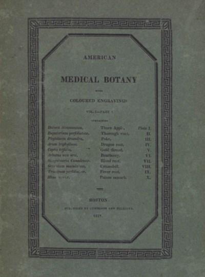 BIGELOW, Jacob (1787-1879). Am