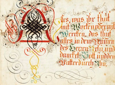 [CALLIGRAPHY-GERMAN.] German C