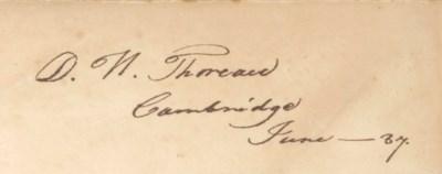 [THOREAU, Henry David (1817-18