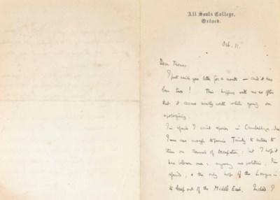LAWRENCE, T.E. Autograph lette