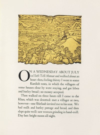 LAWRENCE, T. E. The Diary of T
