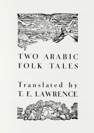 LAWRENCE, T. E., translator. T