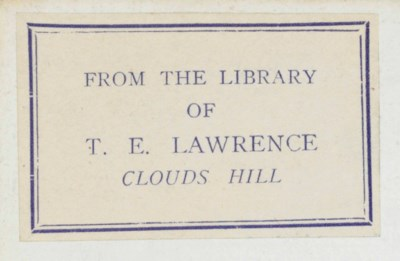 [LAWRENCE, T.E., his copies].