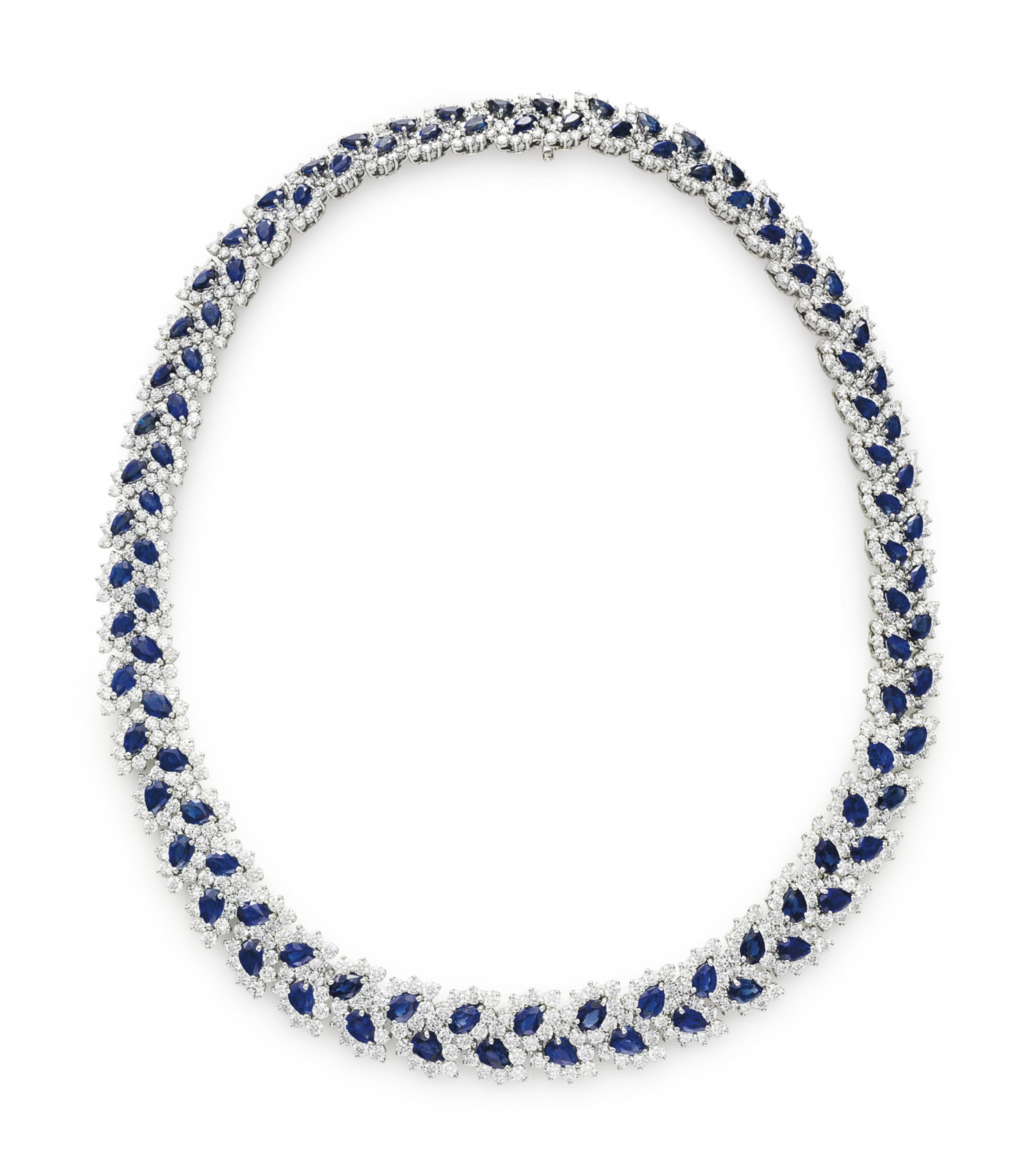 881be456d54b6 A SAPPHIRE AND DIAMOND 'LEAF' NECKLACE, BY TIFFANY & CO. | Jewelry ...