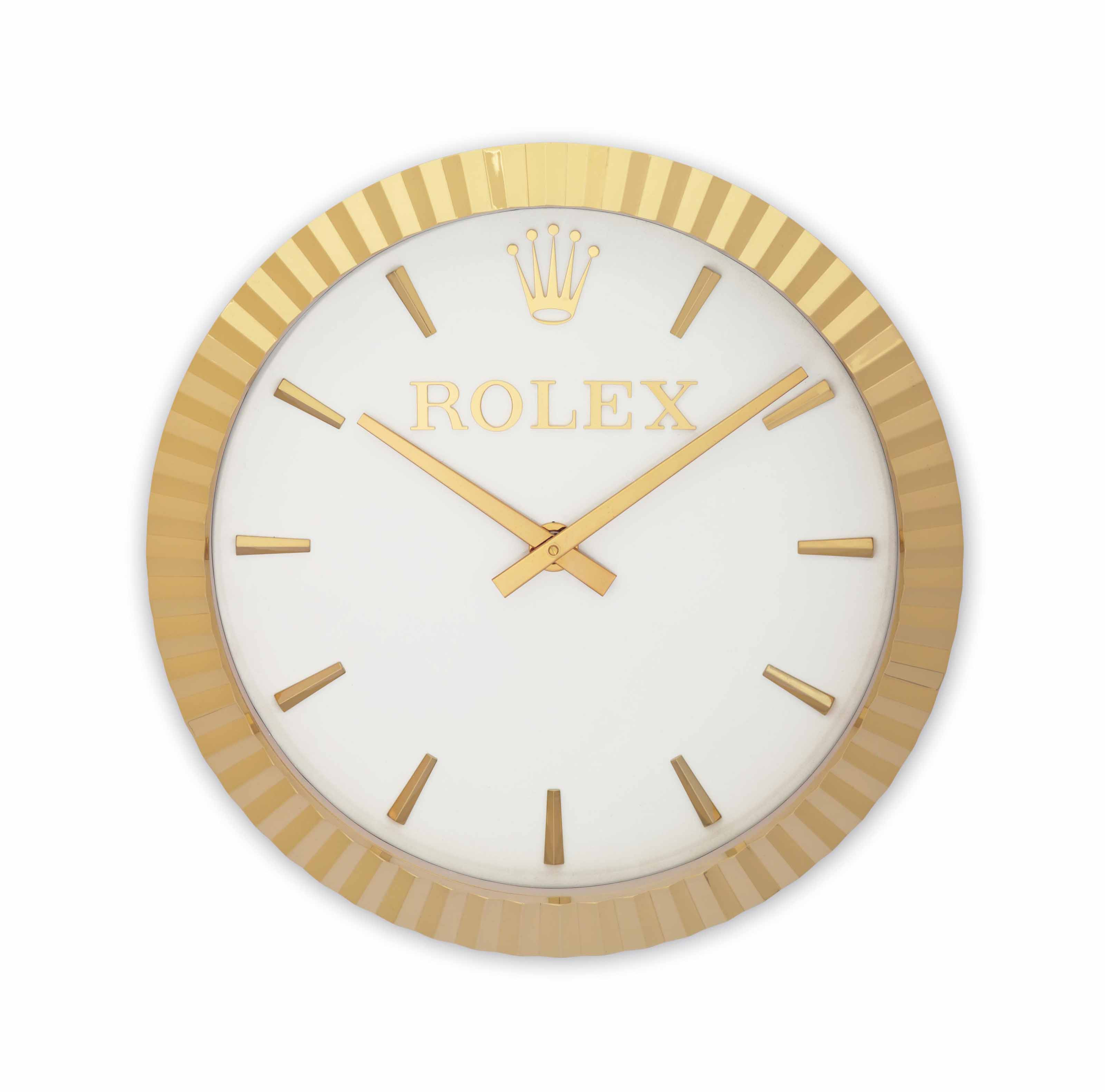 Inducta for Rolex  A Large and Attractive Wall Clock