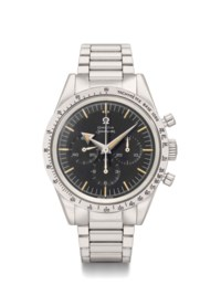 Omega. A Very Fine and Equally Rare Stainless Steel Chronograph Wristwatch with Bracelet