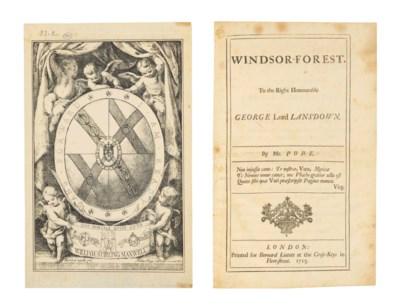 POPE, Alexander. Windsor-Fores