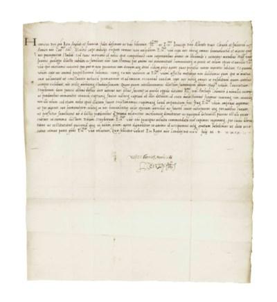 "HENRY VIII. Letter signed (""He"