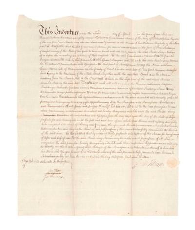 MORRIS, Gouveneur. Manuscript