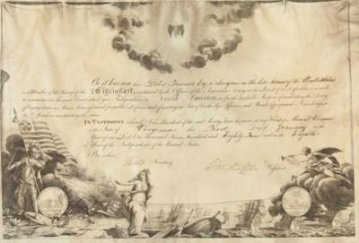 WASHINGTON, George. Engraved d