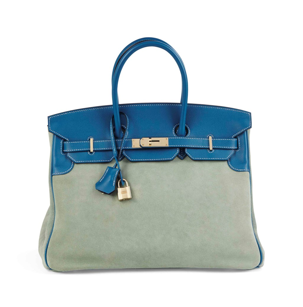 9da6d5e5ec SAC BIRKIN GRIZZLY 35 EN CUIR SWIFT BLEU DE GALICE   VEAU DO