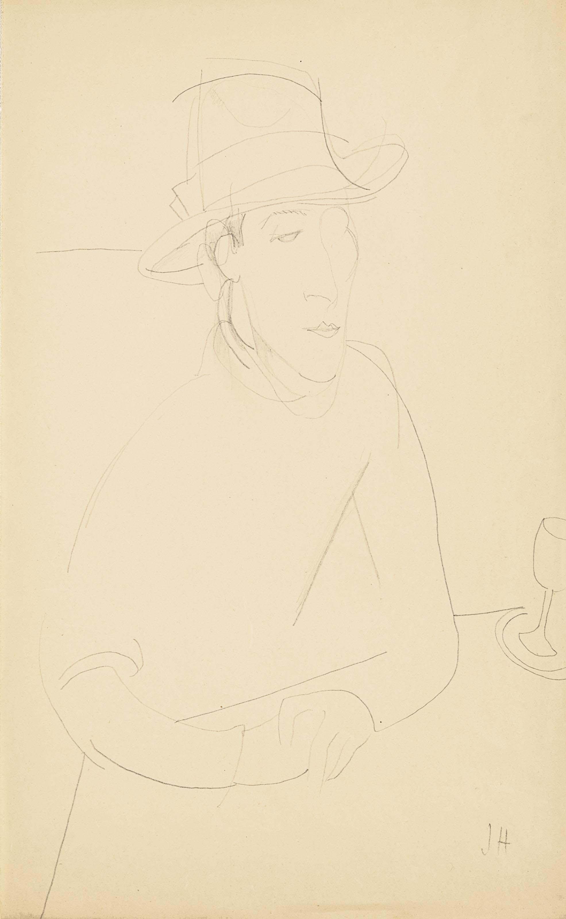 Portrait d'Amedeo Modigliani au chapeau