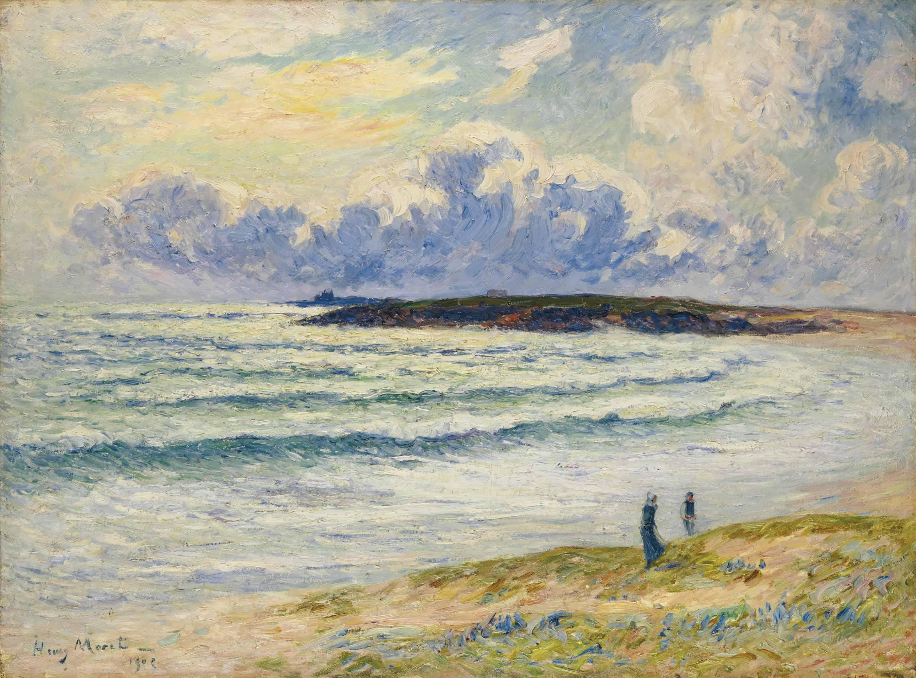 La plage de Nevez, Finistère ou Le goémon à Nevez