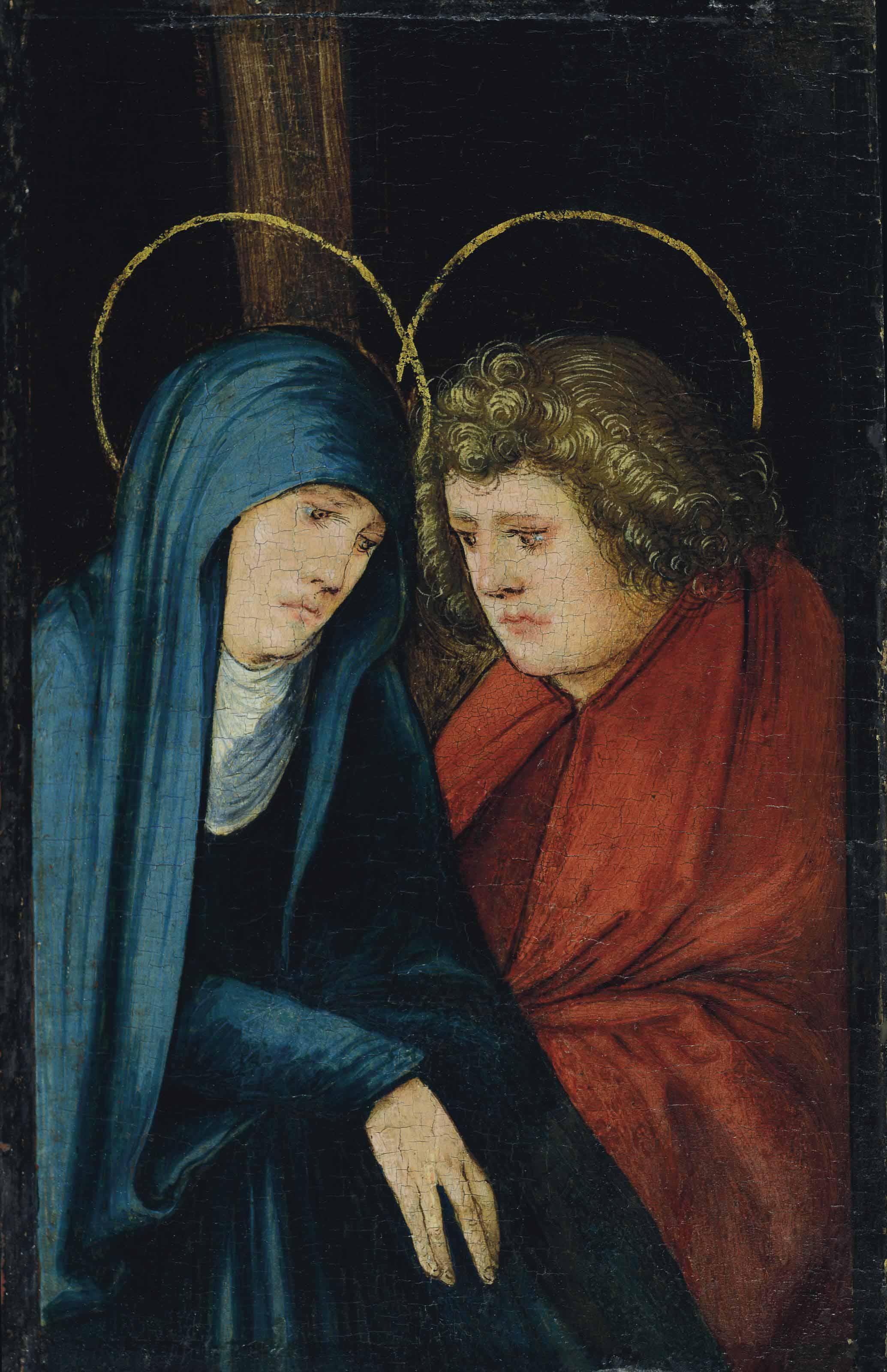 La Vierge et saint Jean au pied de la croix