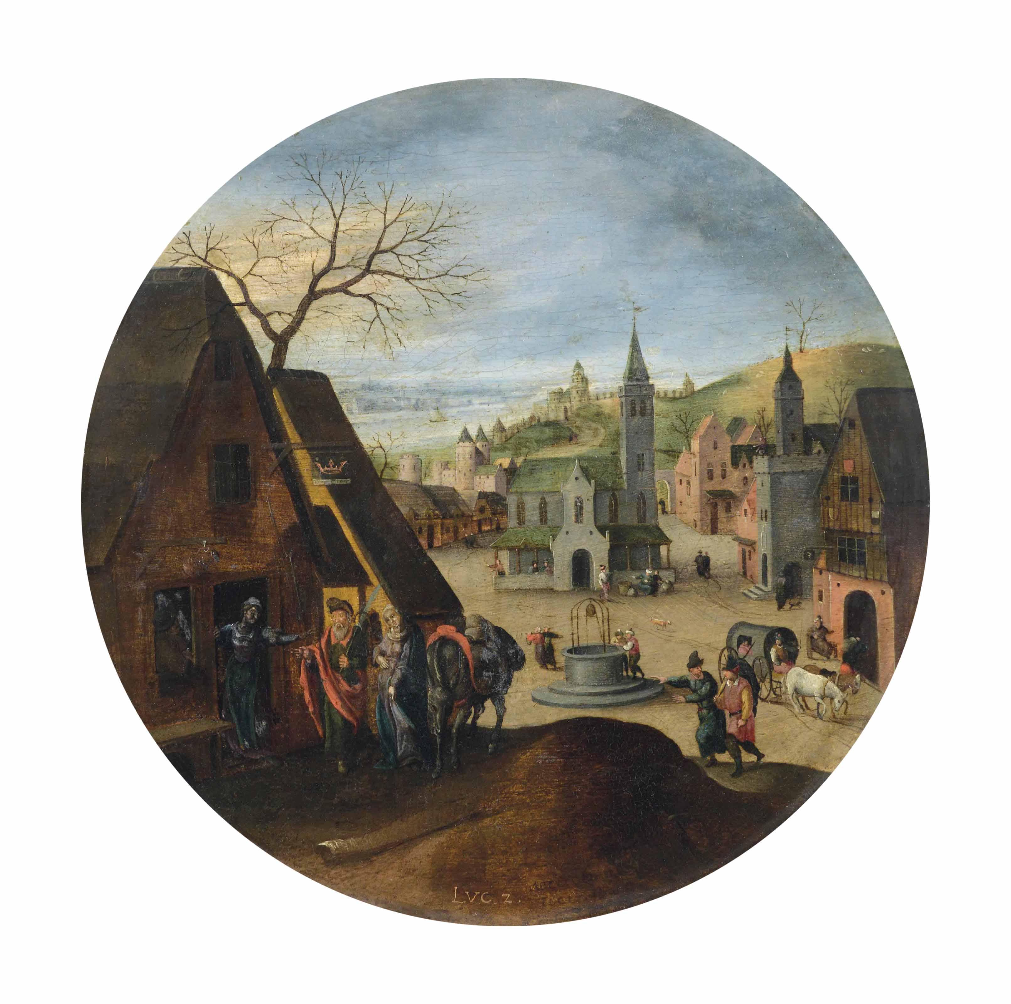 Le mois de décembre: Marie devant l'auberge