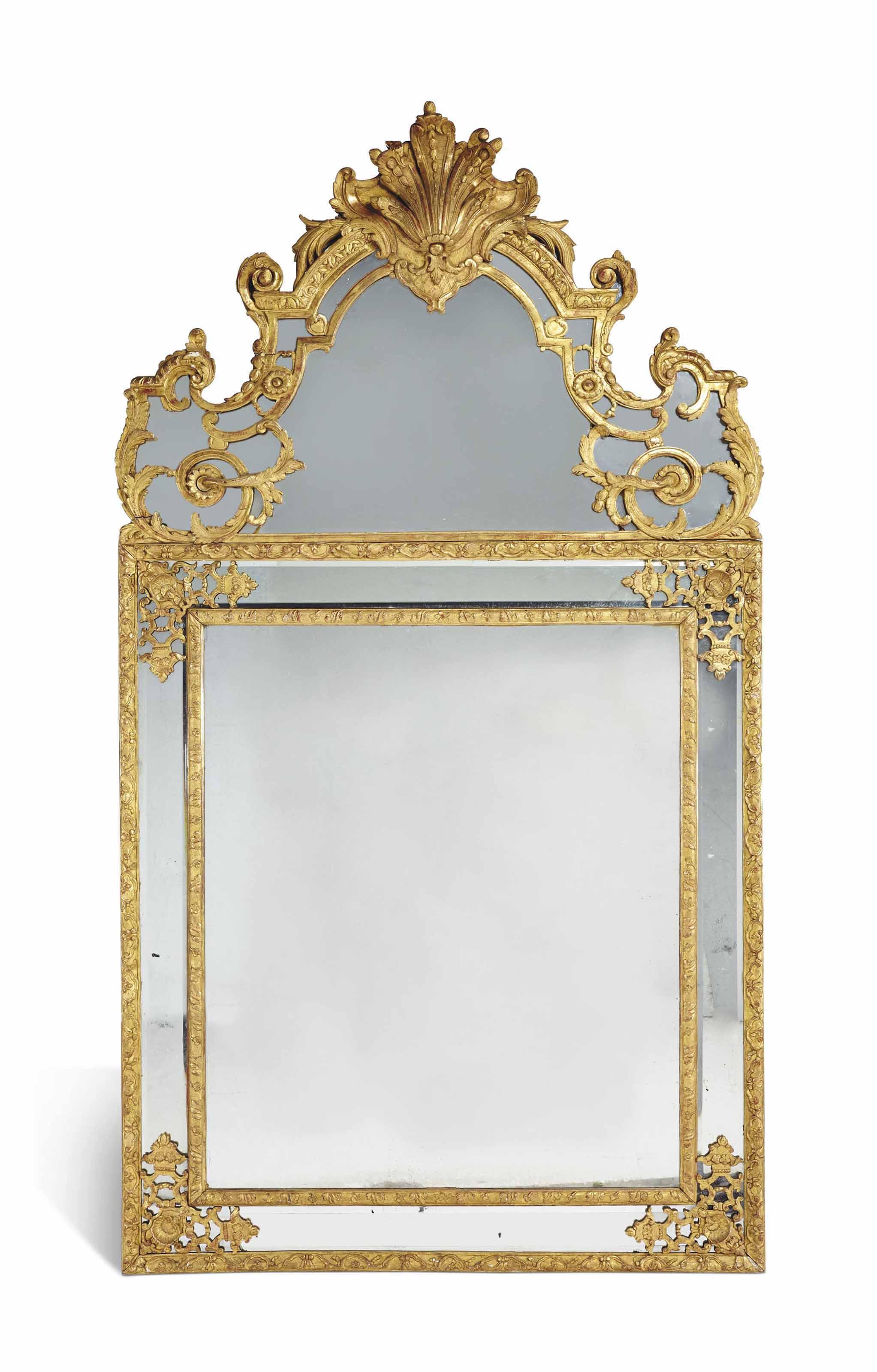 Miroir a parecloses de style regence fin du xixeme for Miroir de style