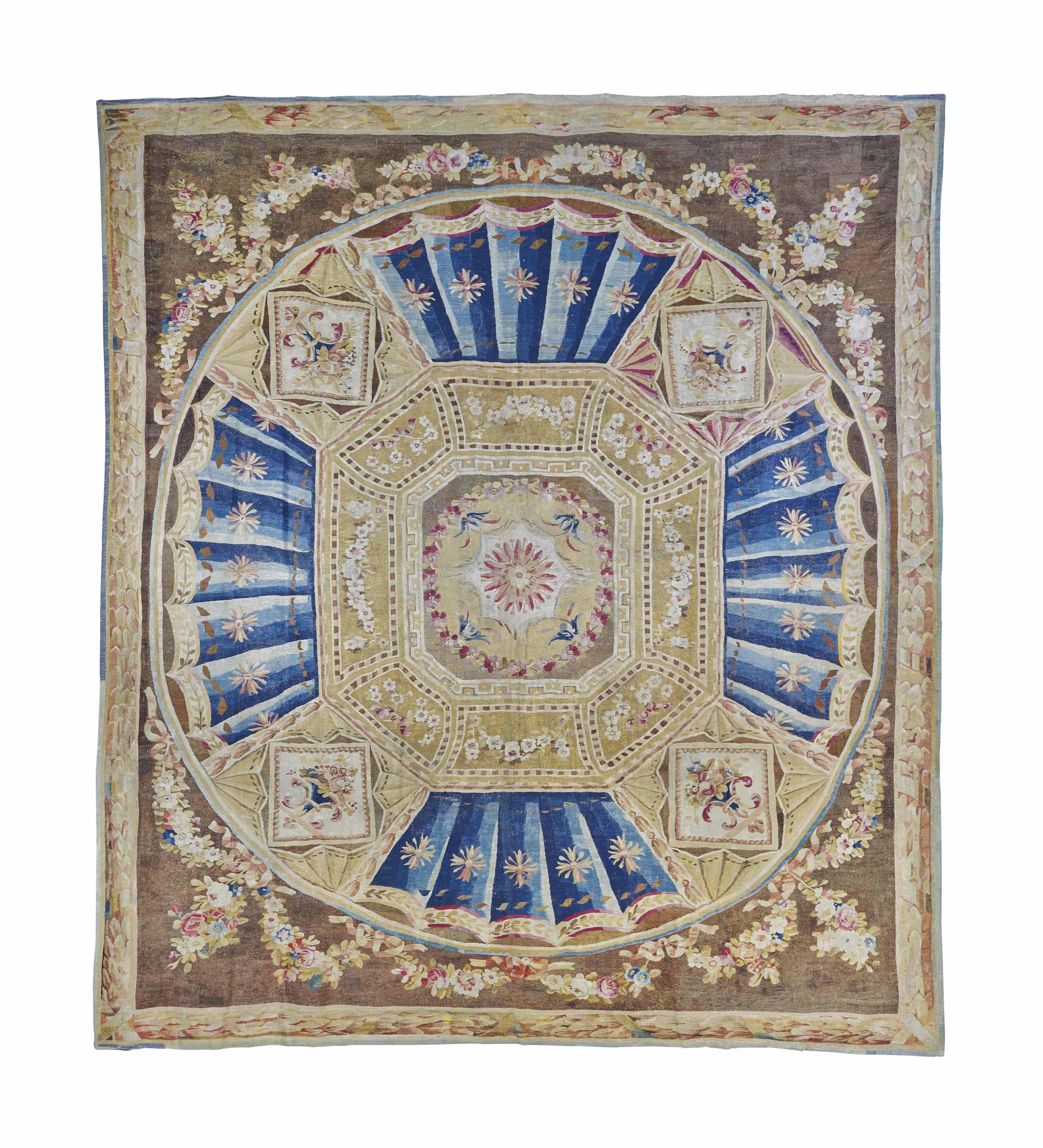 tapis d 39 epoque directoire aubusson fin du xviiieme siecle christie 39 s. Black Bedroom Furniture Sets. Home Design Ideas