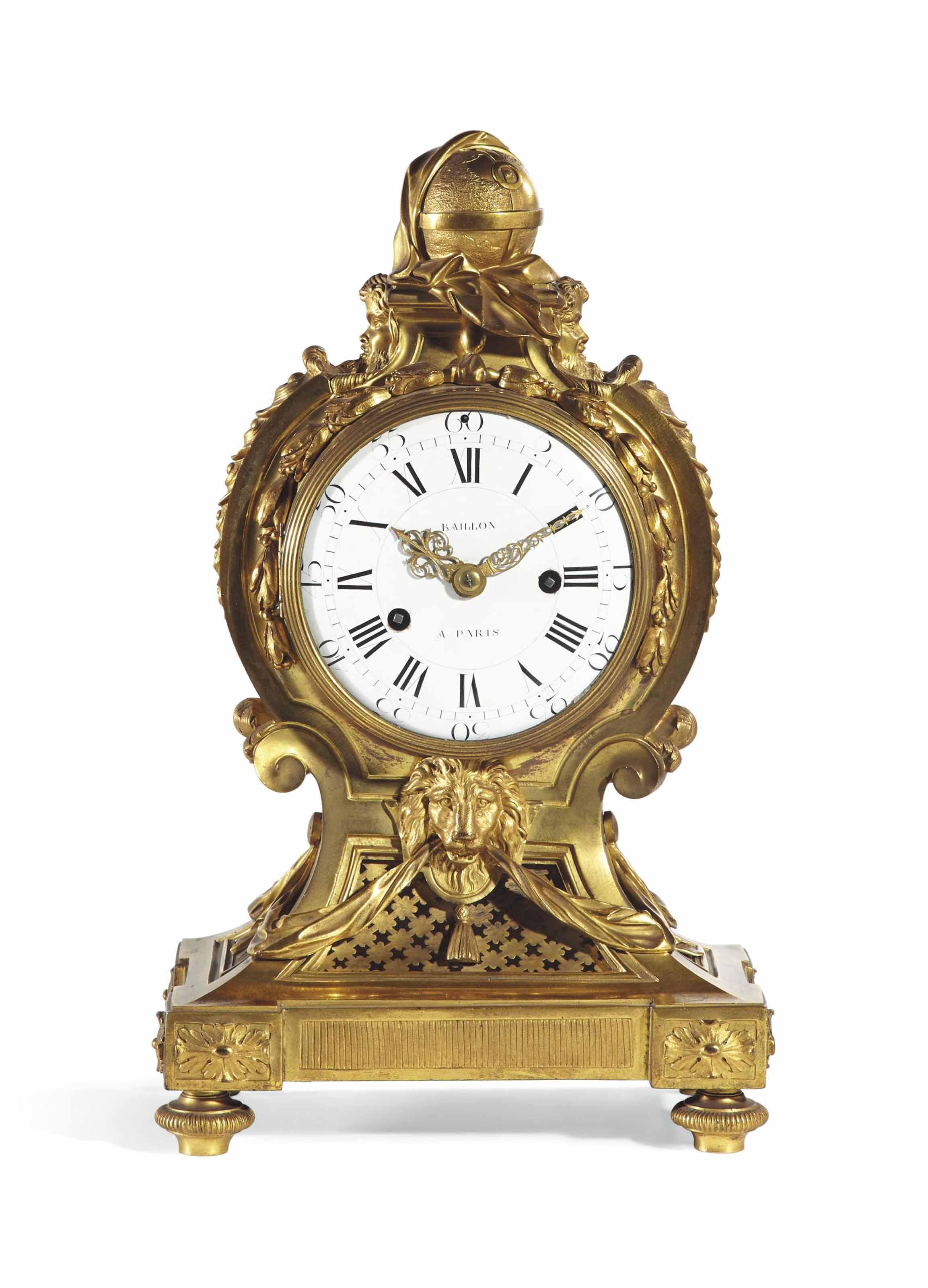 pendule de cartonnier d 39 epoque louis xvi signature de jean baptiste baillon vers 1770. Black Bedroom Furniture Sets. Home Design Ideas