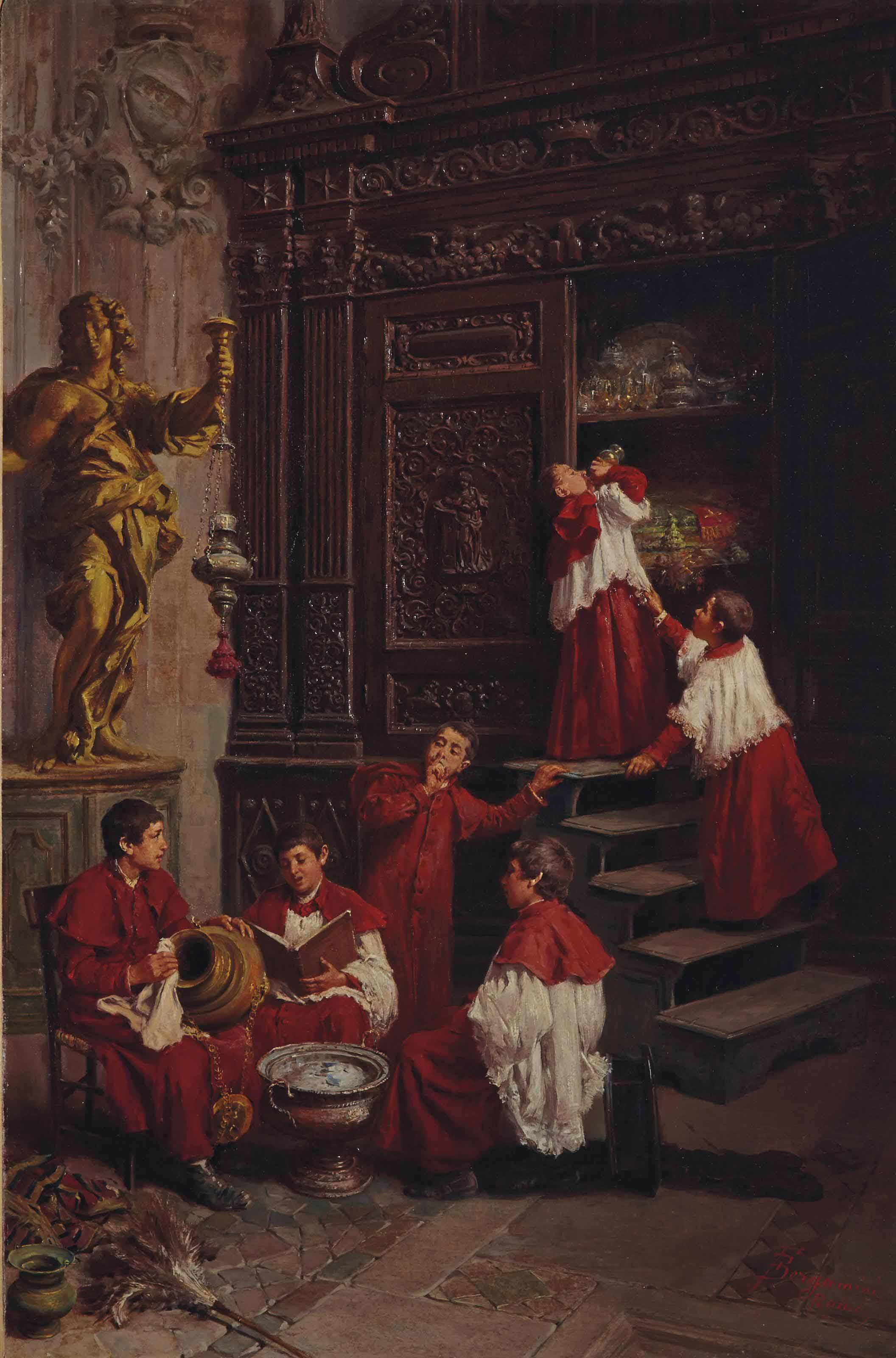 Dans la sacristie
