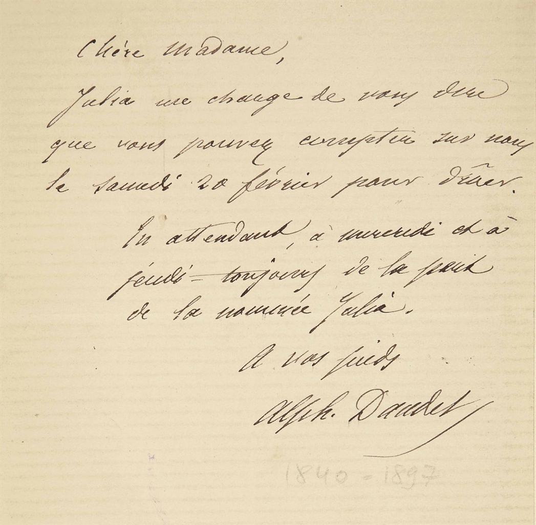 Alphonse DAUDET (1840-1897). L