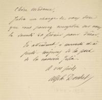 Alphonse DAUDET (1840-1897). Lettres de mon moulin. Paris: Hetzel et Cie s. d. [1869]. In-12 (185 x 115 mm). Reliure signée J. P. Miguet au contreplat, demi-maroquin noisette à coins, dos à nerfs, couverture jaune imprimée et dos conservés, tête dorée.