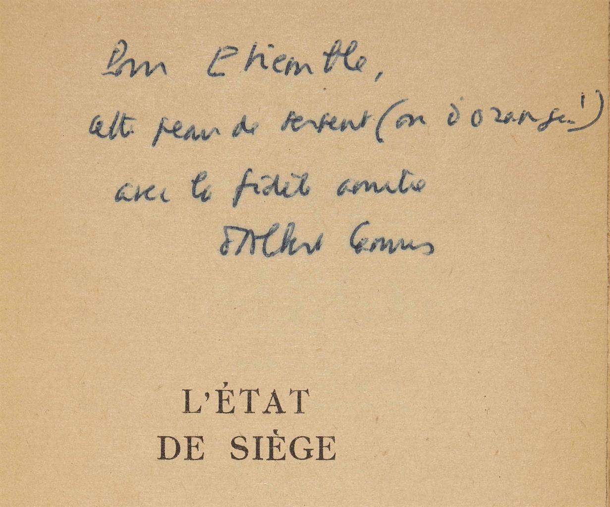 Albert CAMUS (1913-1960). L'Ét