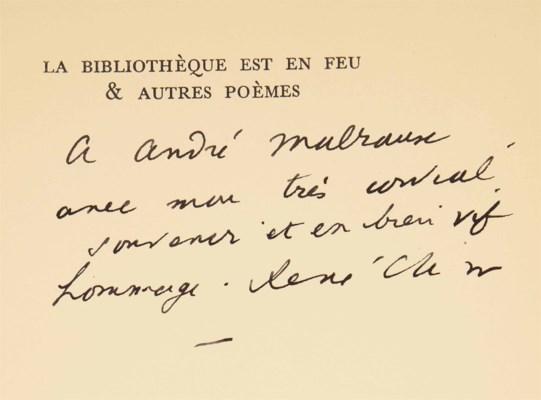 René CHAR (1907-1988). La Bibl