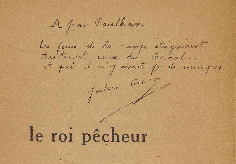 Julien GRACQ (1910-2007). Le Roi pêcheur. Paris: Librairie José Corti, 1948. In-12 (188 x 120 mm). Broché.