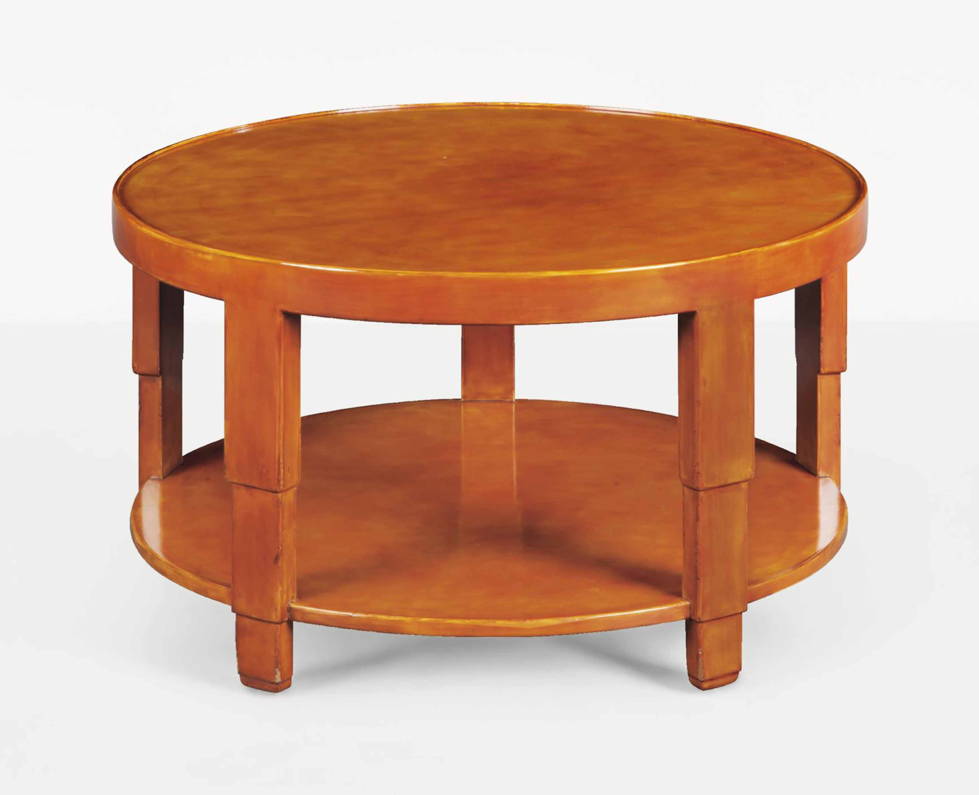 Jean dunand 1877 1942 table basse circulaire a deux plateaux le modele cree vers 1925 - Modele table basse ...