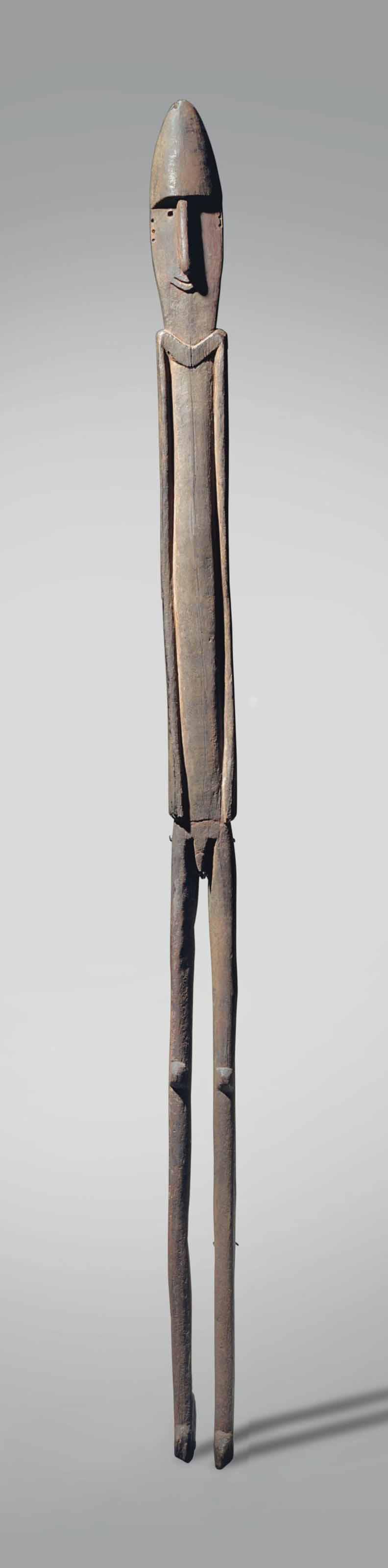 Statue masculine du Golf Papou