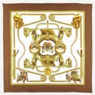 Ensemble de six carrés de soie