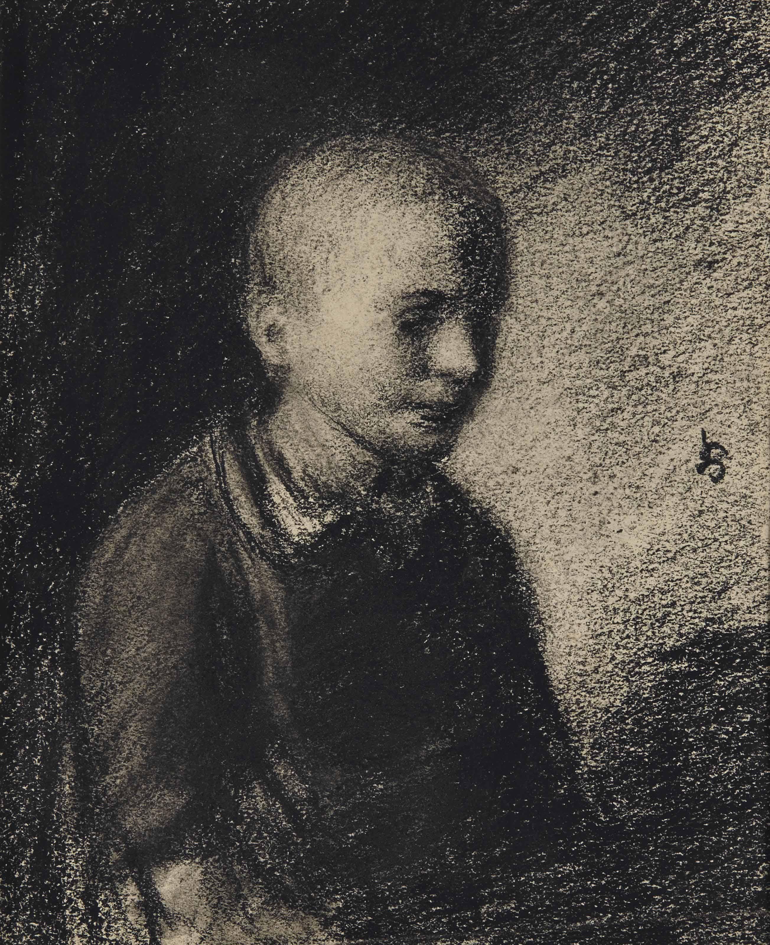 PORTRAIT DE KOBE SMITS (RECTO); INTÉRIEUR AU VIEILLARD (VERSO)