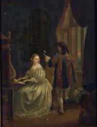 Jeune couple jouant de la musique