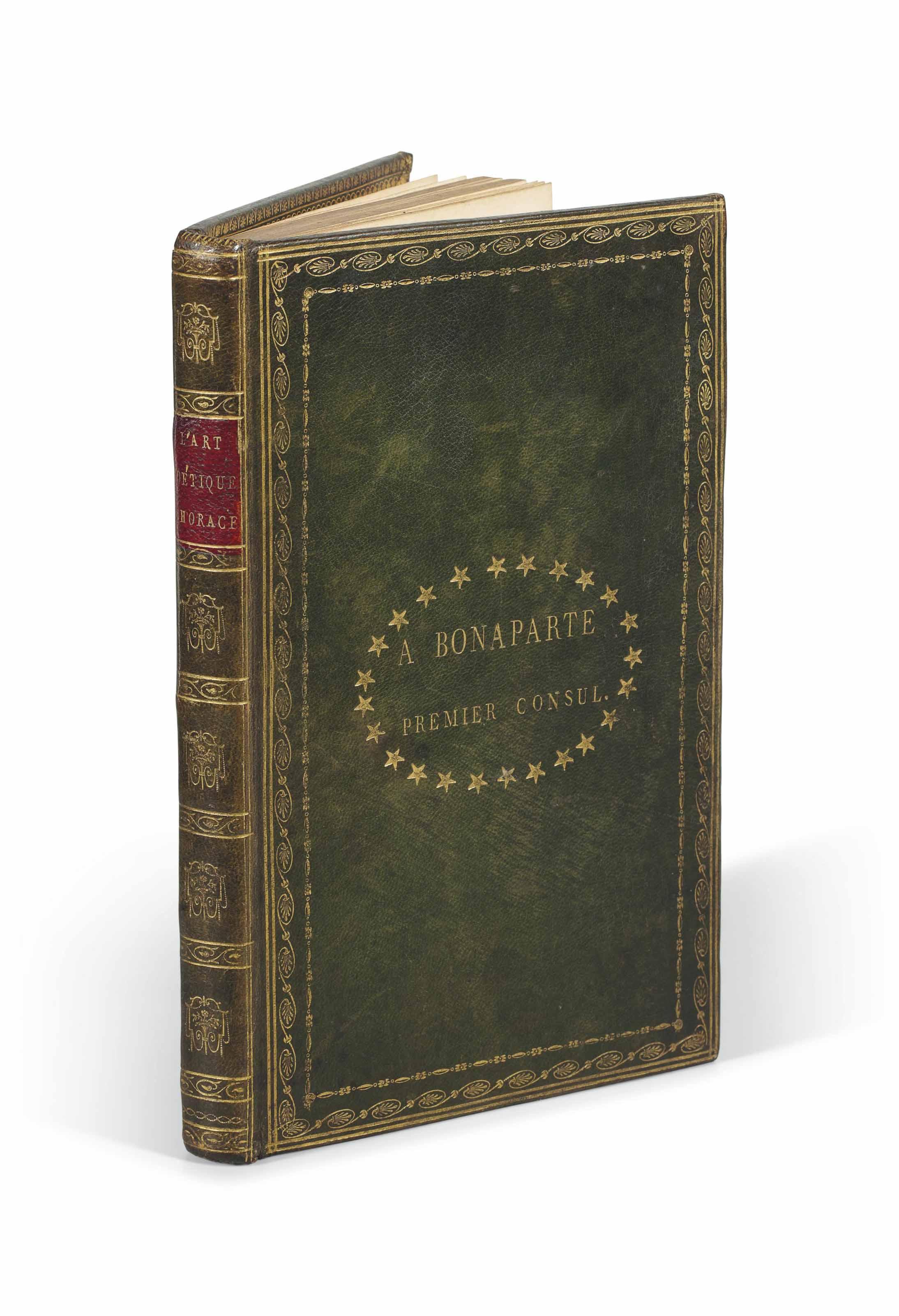 NAPOLEONICA] – F M CORNETTE, trad L'Art poétique d'Horace, ...