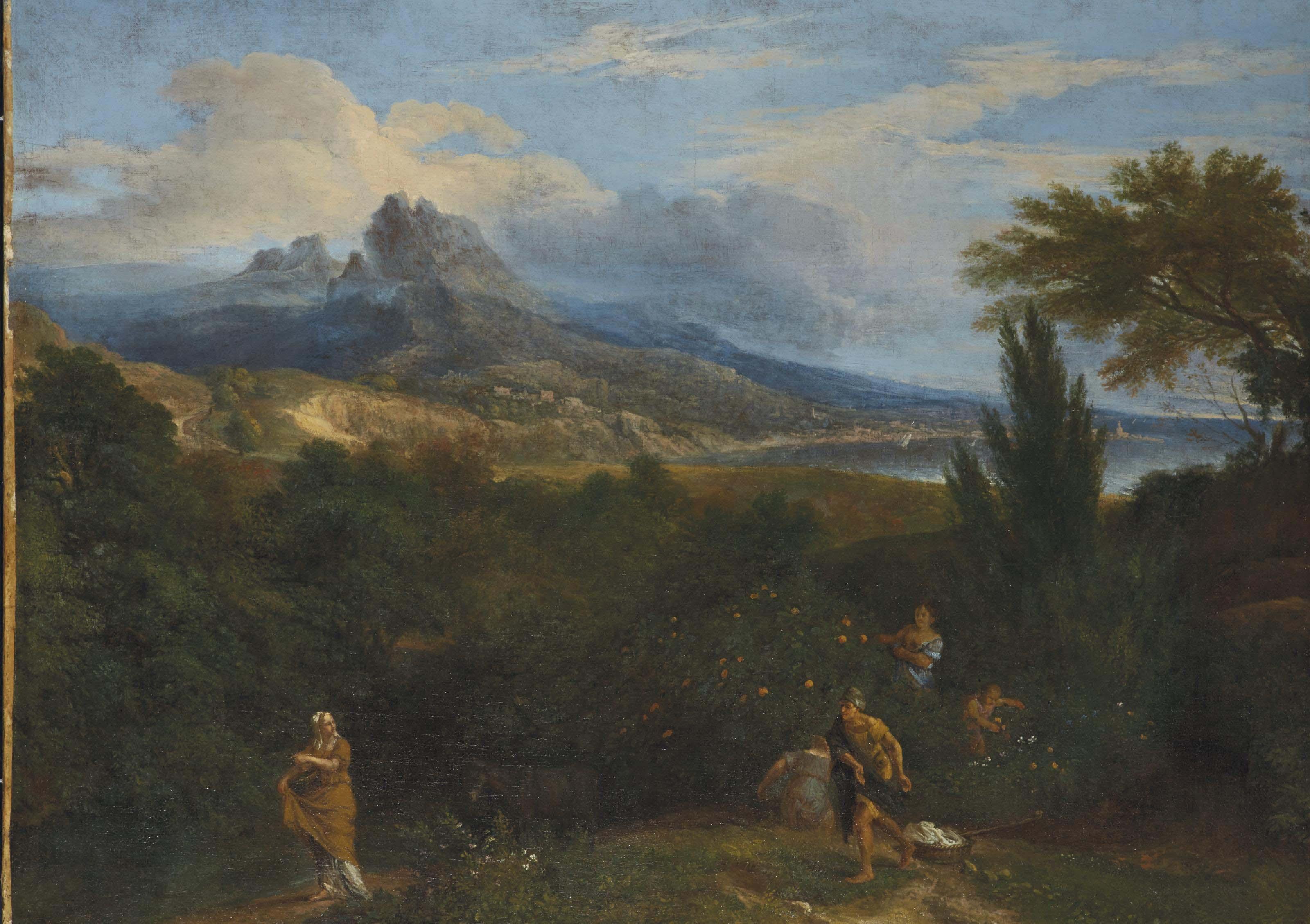 Paysage italianisant avec des bergers