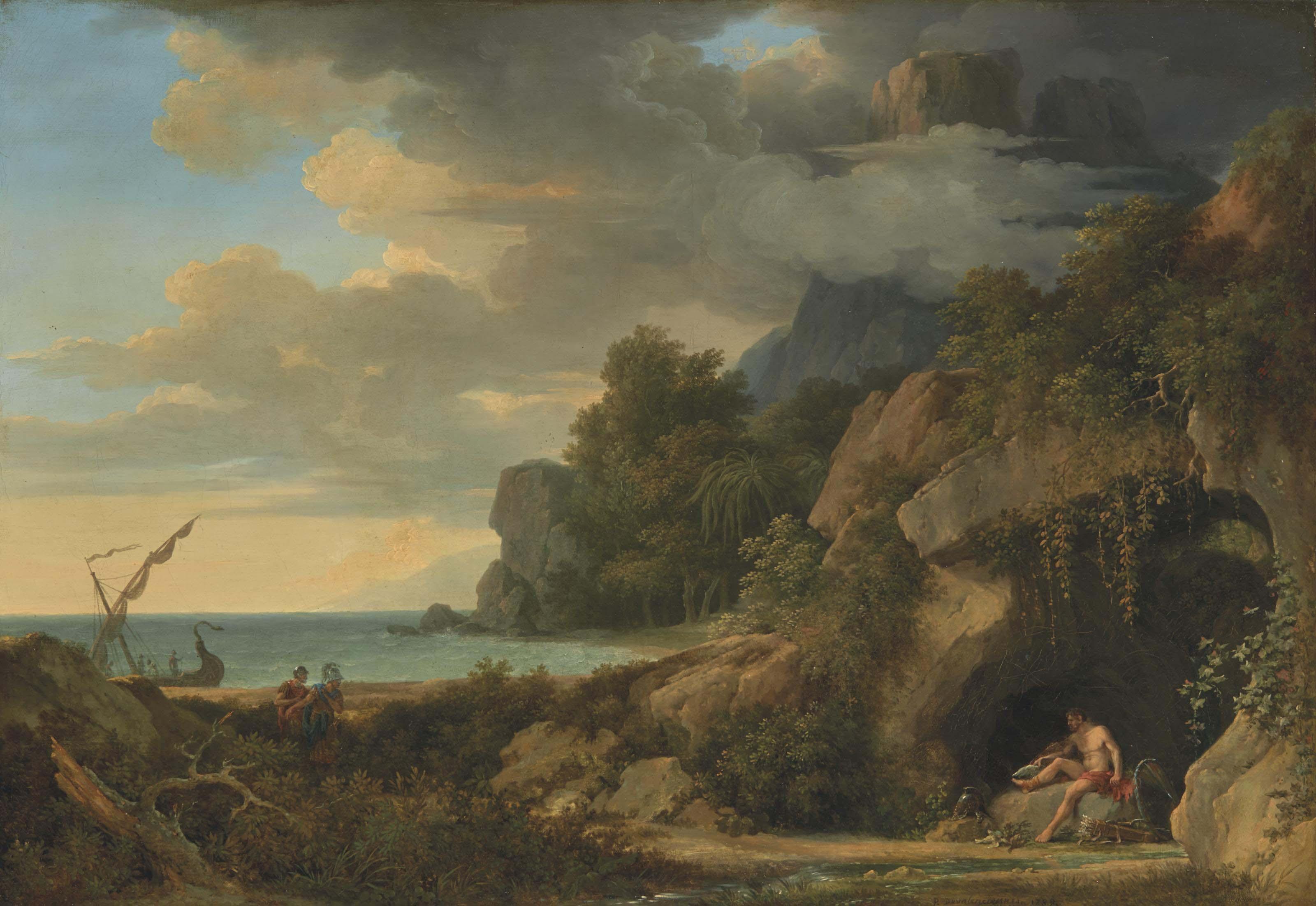 Philoctète sur l'île de Lemnos