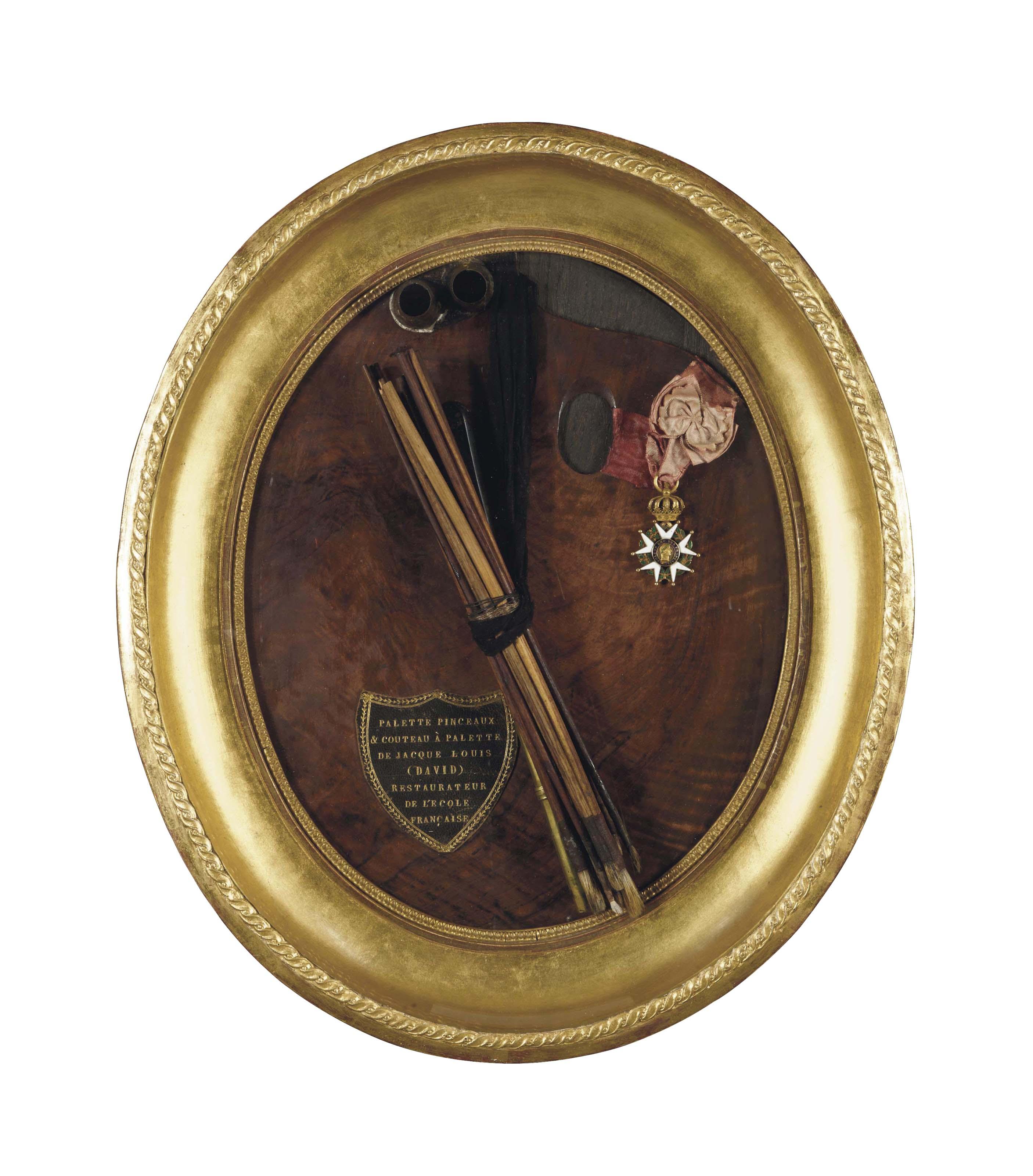 PALETTE DU PEINTRE JACQUES-LOUIS DAVID (1748-1825)