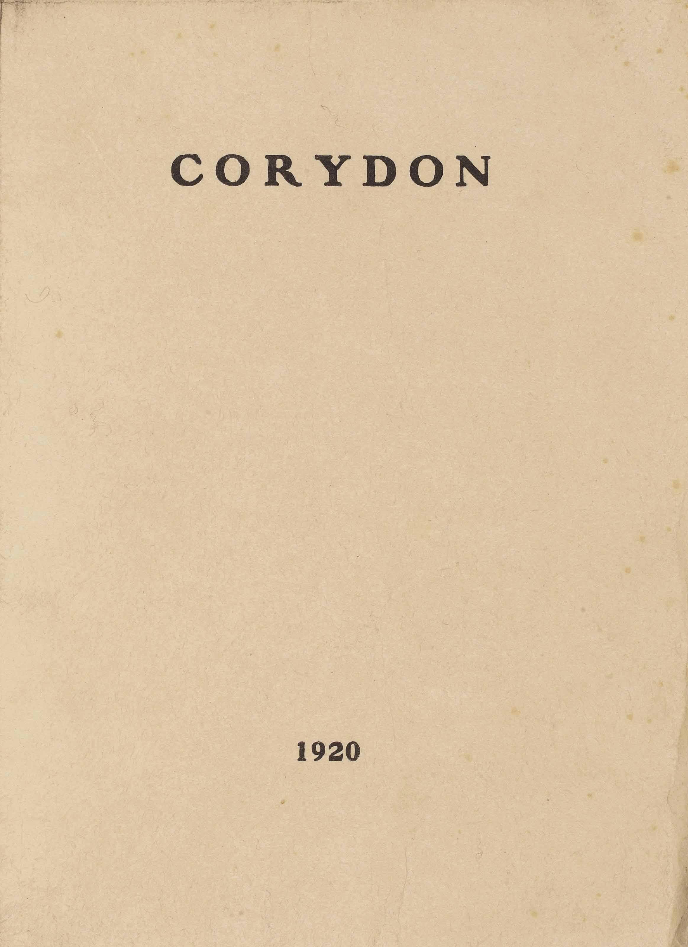 [André GIDE (1869-1951)]. Corydon. Quatre dialogues socratiques. 1920. In-8 (198 x 140 mm). Broché, couverture imprimée de papier Japon rempliée.