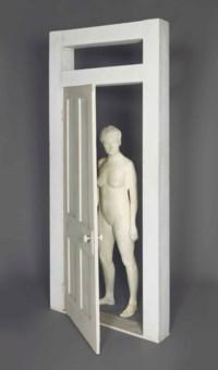 Girl looking throught Doorway