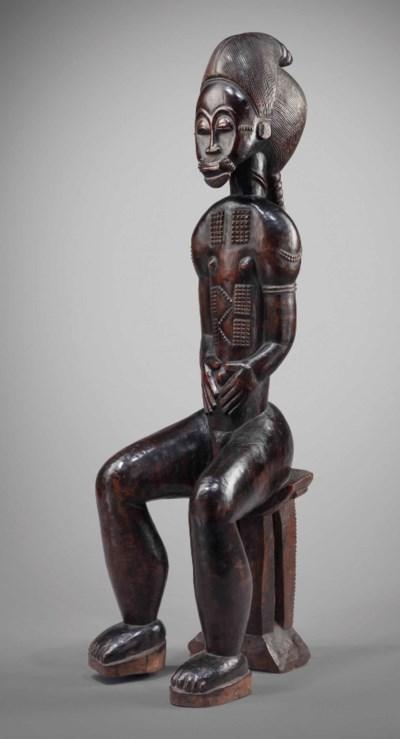 Statuette assise Baoulé Baule