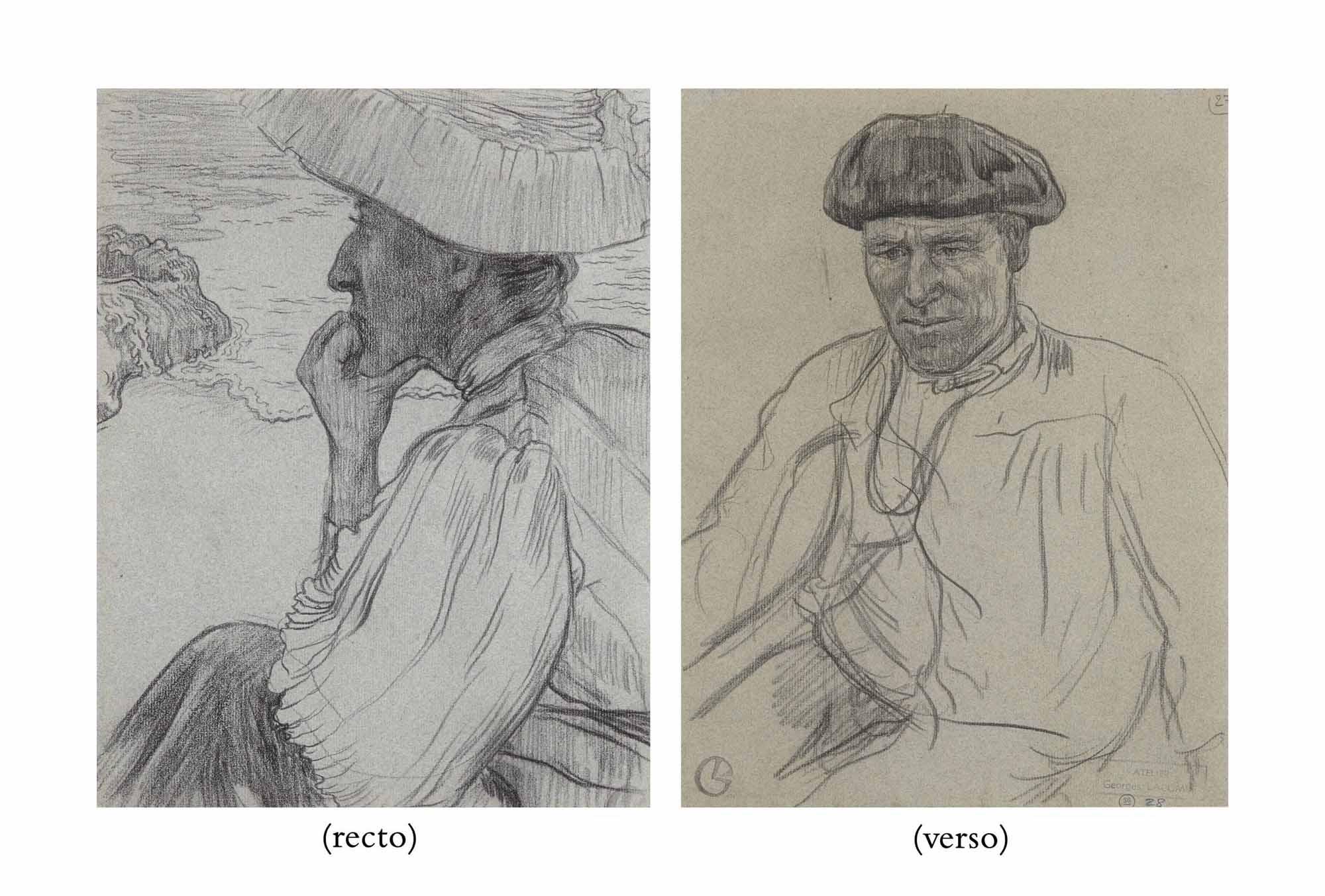 Portrait de Madame Wenger à Camaret-sur-Mer (recto); Portrait du marin Piriou (verso)