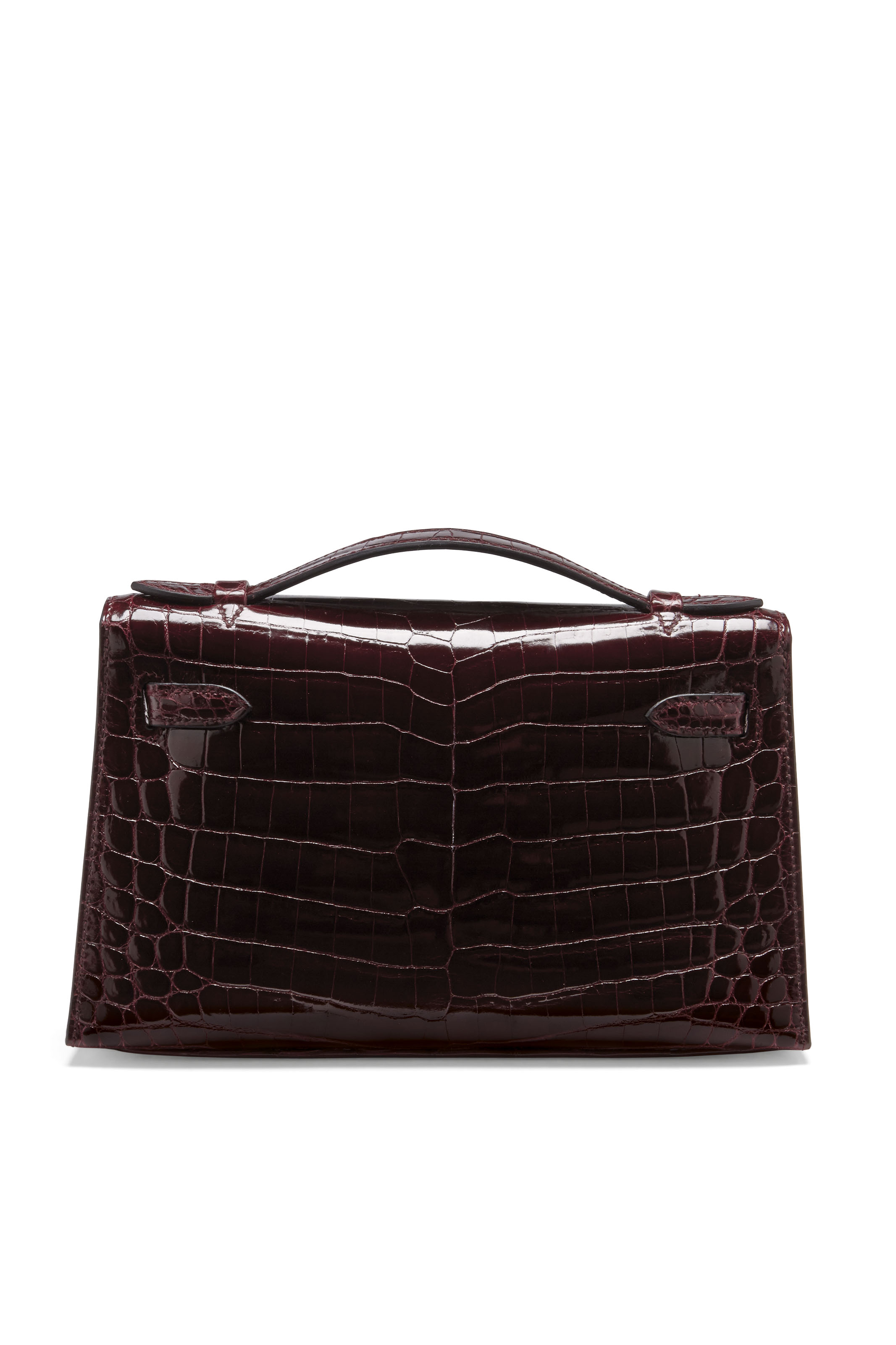 POCHETTE KELLY EN CROCODILE NI