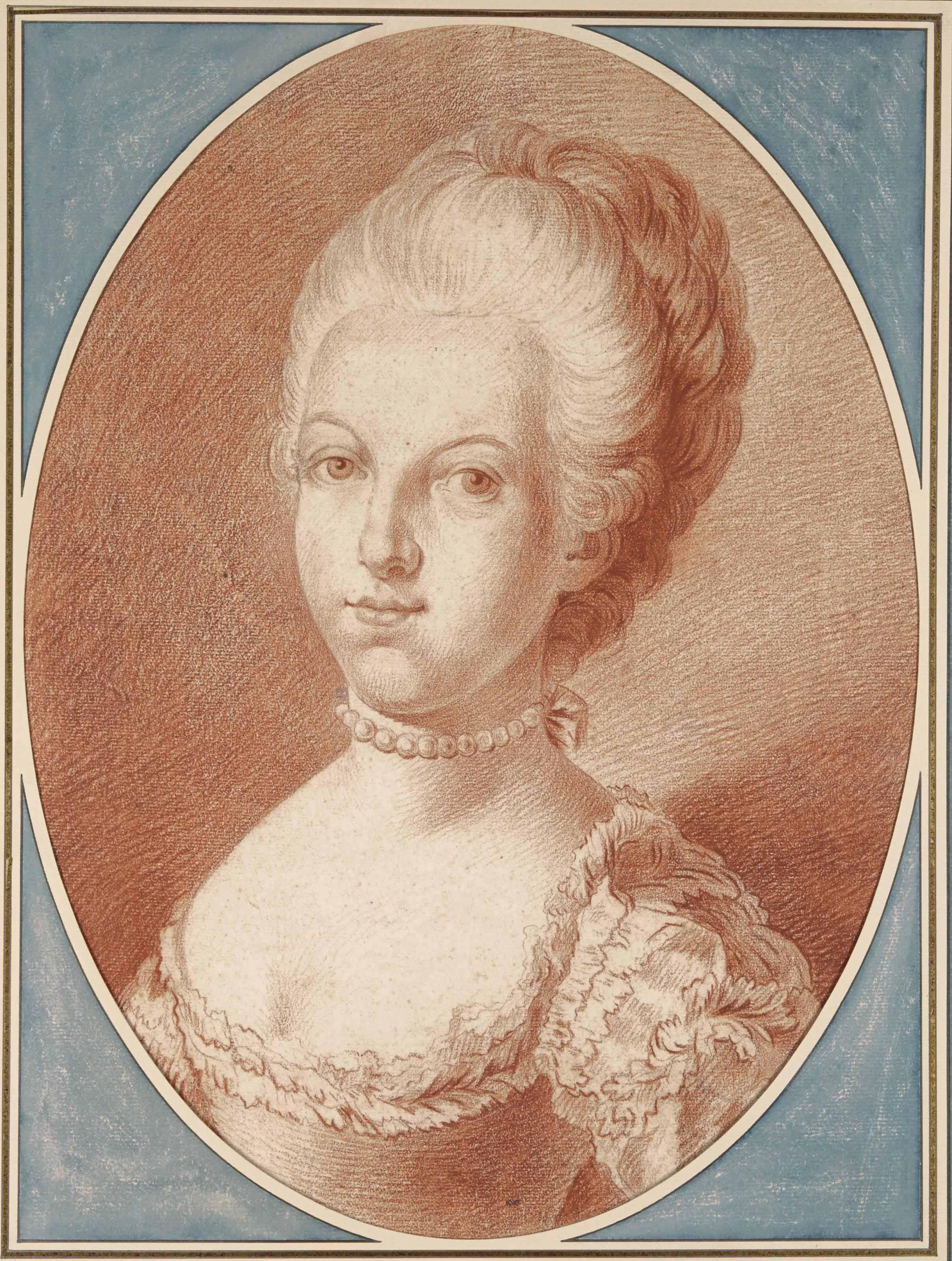 Portrait de Marie-Antoinette à l'âge de seize ans