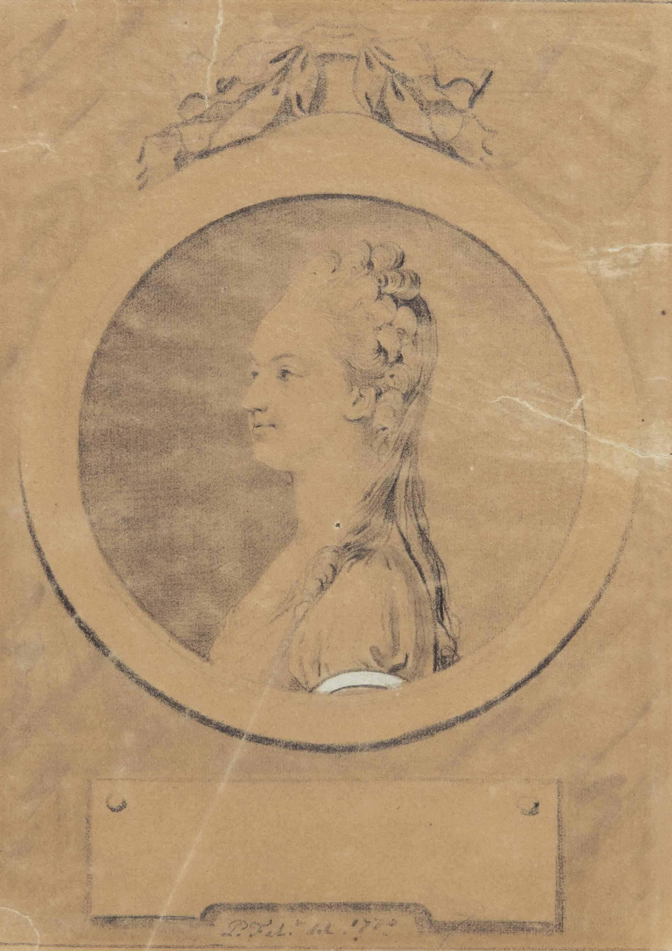 Marie-Antoinette en buste à l'âge de 15 ans