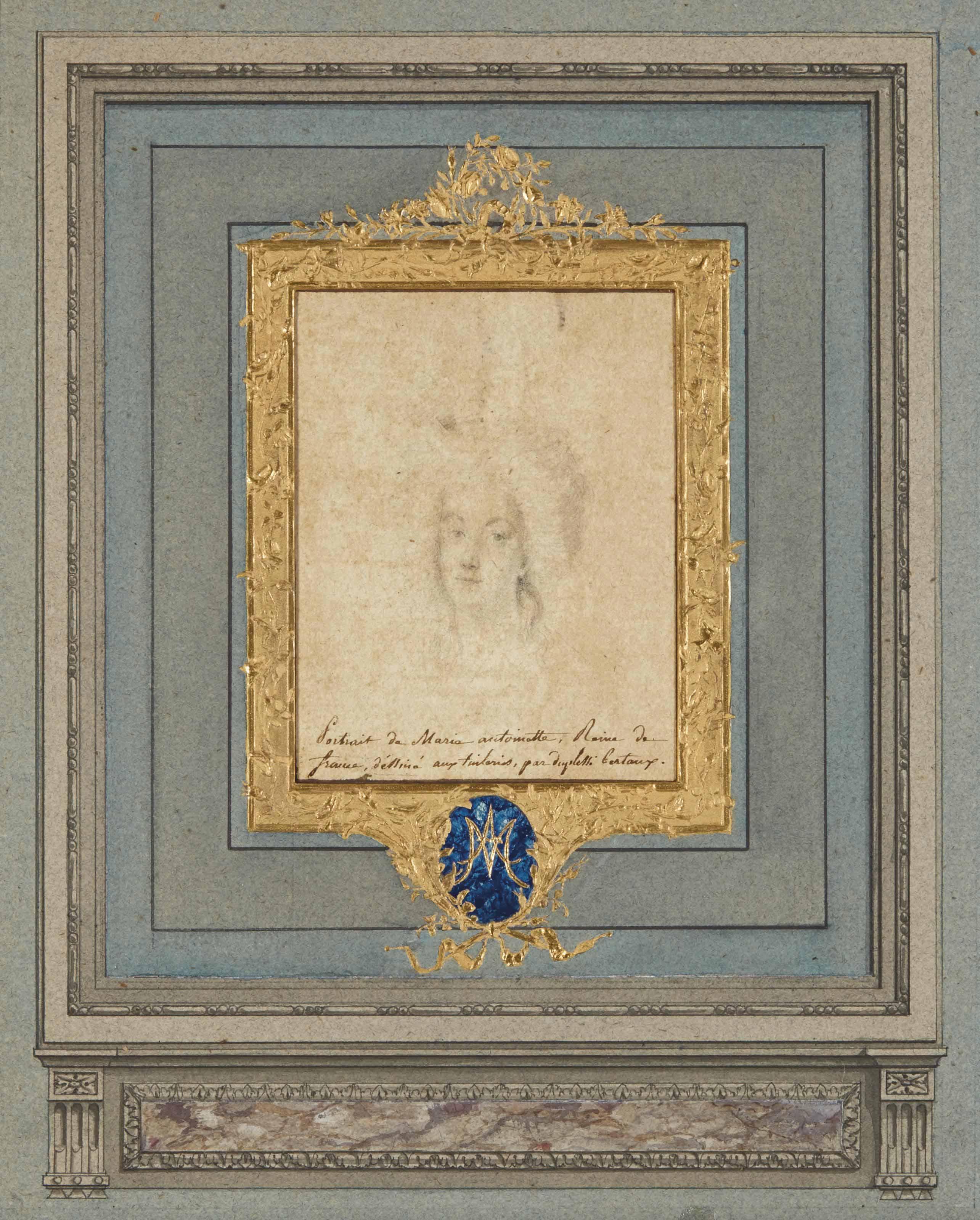 Portrait de Marie-Antoinette en buste