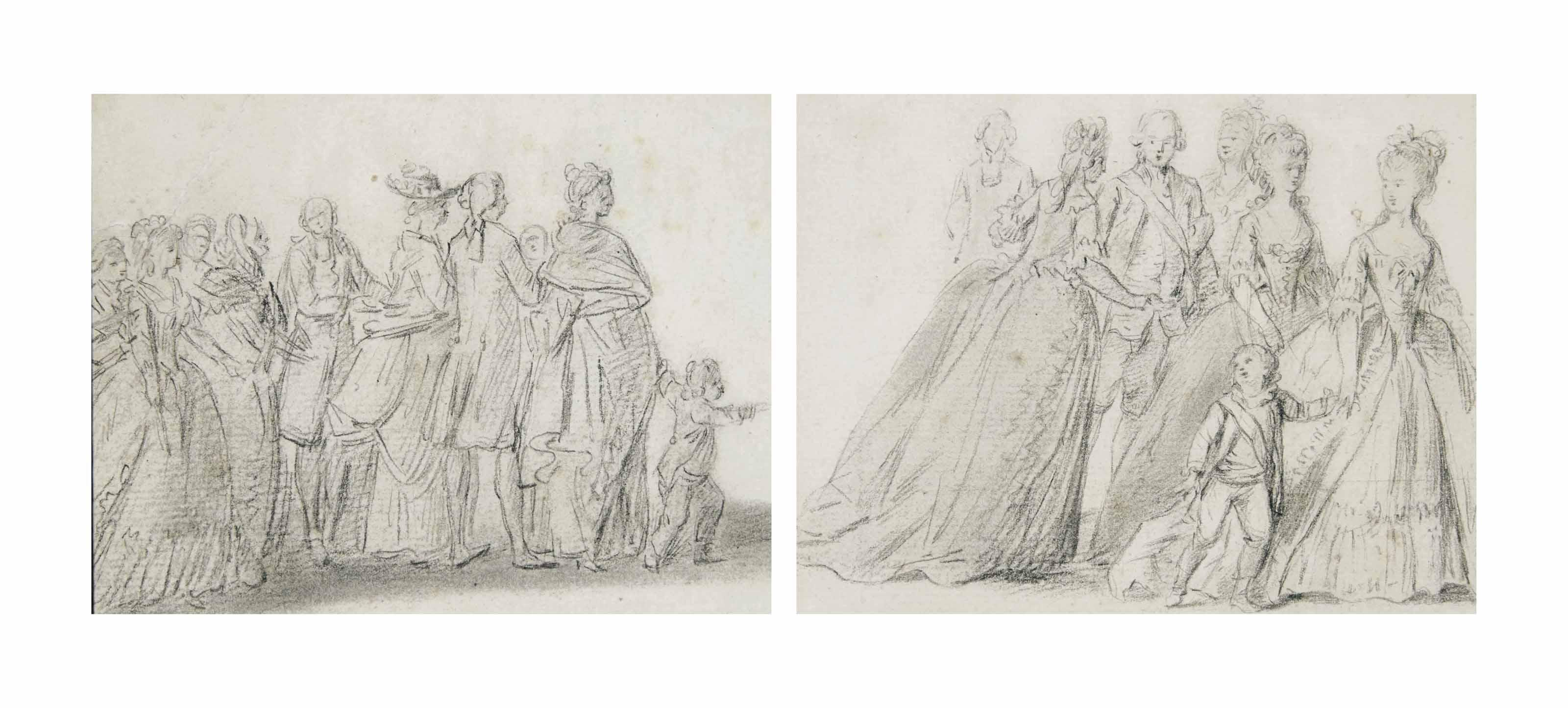 Deux études: l'arrivée de la famille royale aux Tuileries