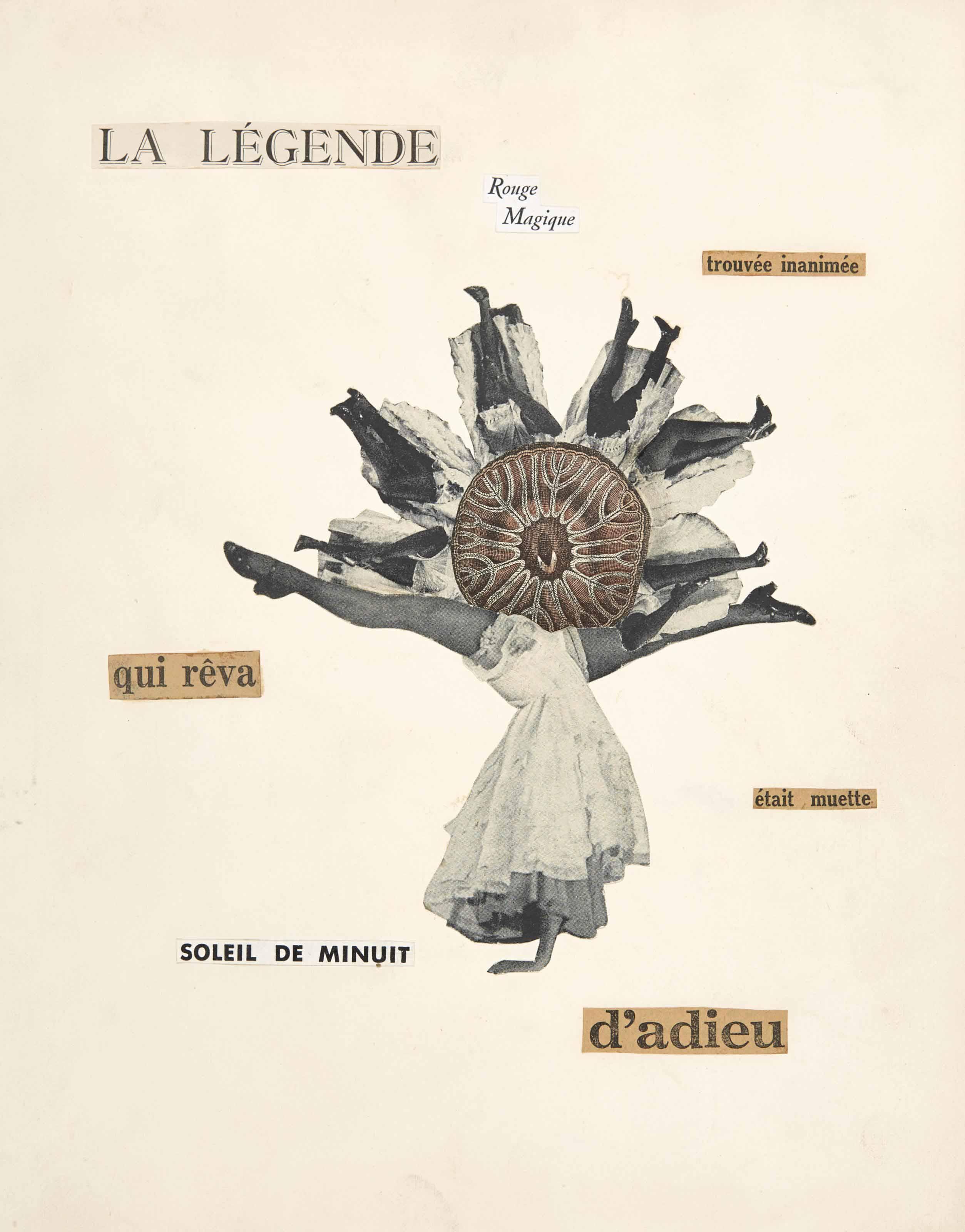 Georges Hugnet 1906 1974 Poème Découpage Pour La