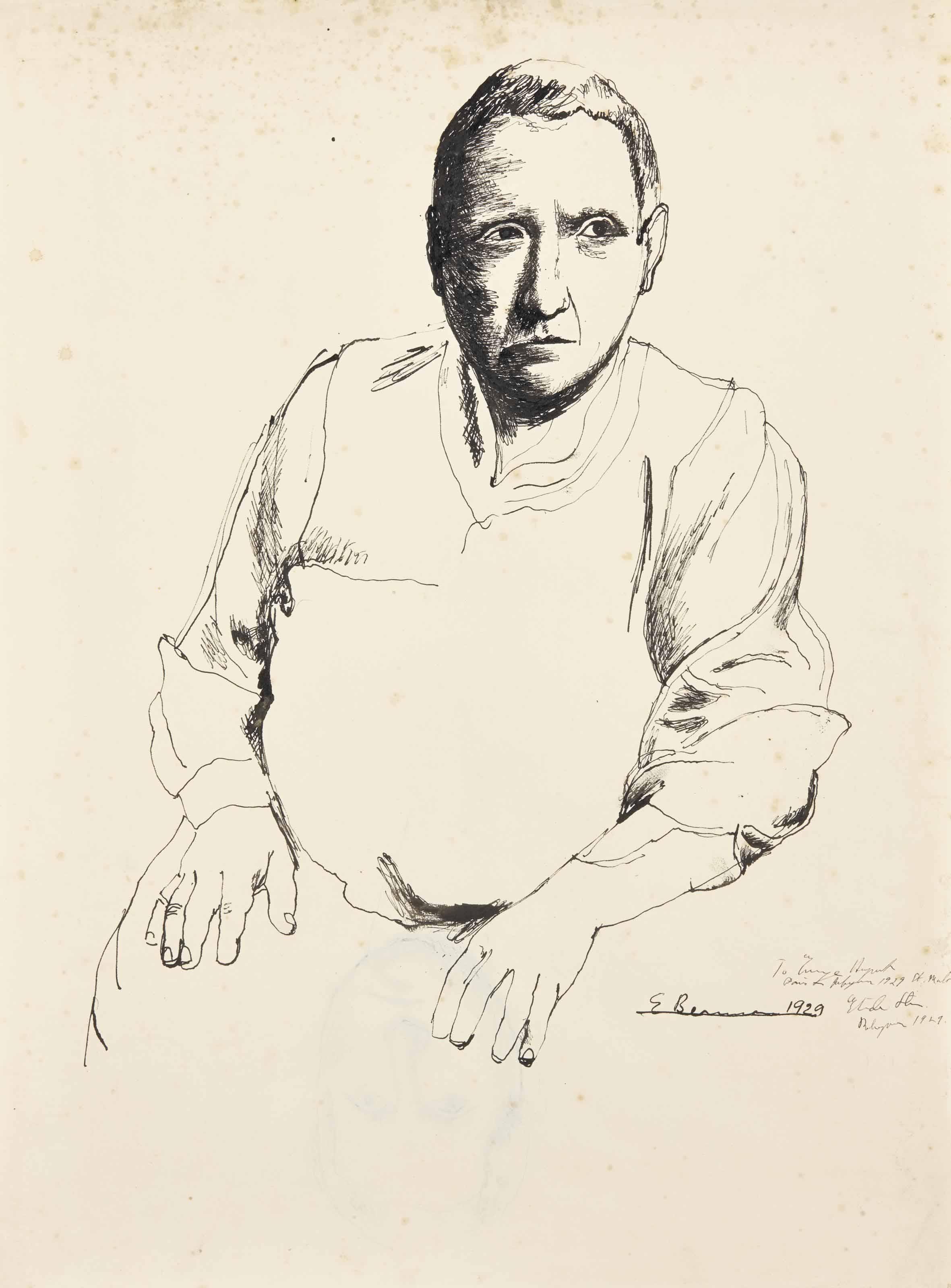 Portrait de Gertrude Stein (recto); Etude pour le portrait de Gertrude Stein (verso)