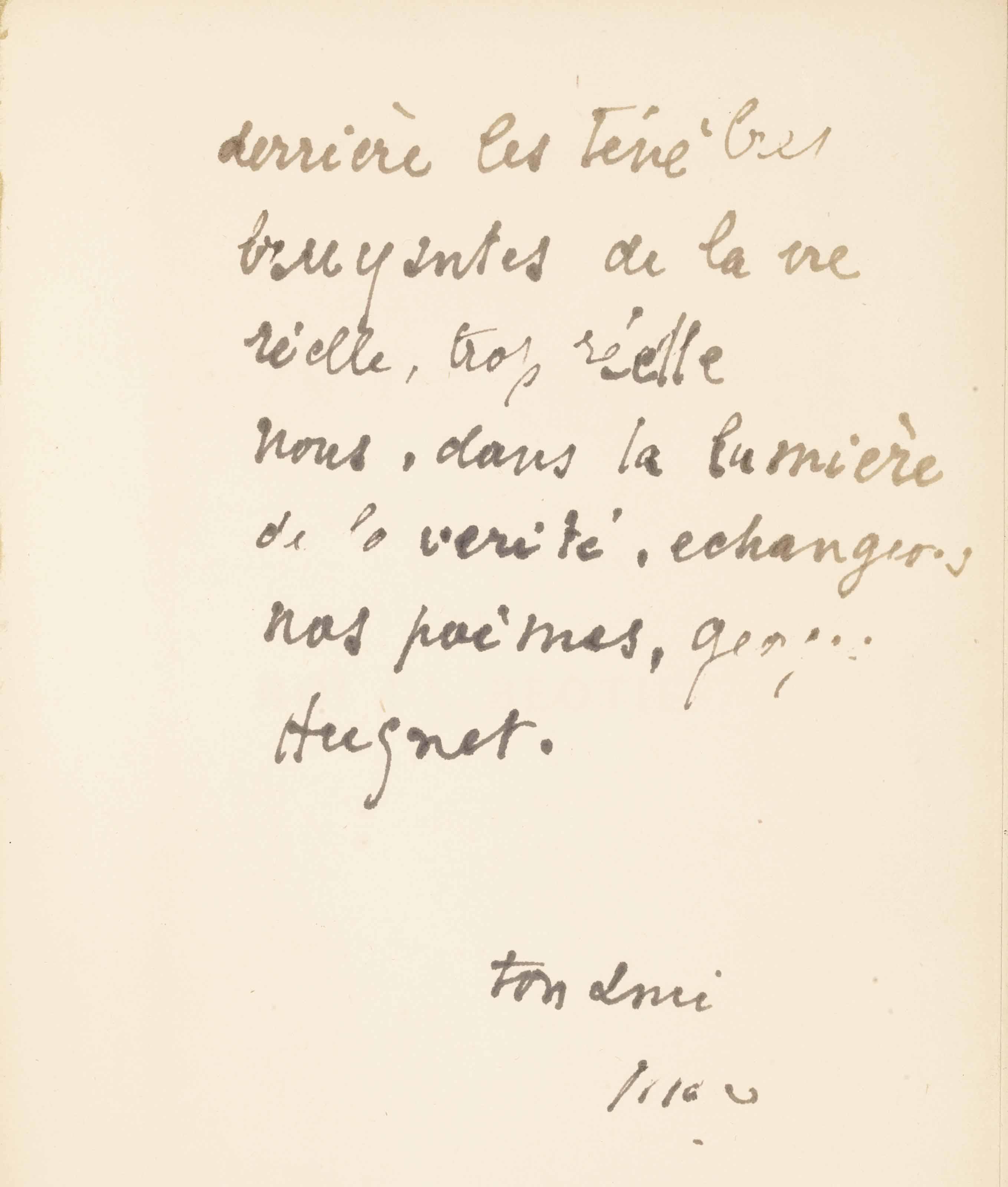 Max Jacob (1876-1944). Réunion de deux ouvrages enrichis d'un envoi autographe signé à Georges Hugnet.