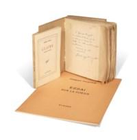 Réunion de trois ouvrages en édition originale portant un envoi autographe à Georges Hugnet.